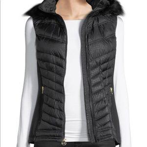 MICHAEL Michael Kors Faux-Fur-Trim Hooded Down
